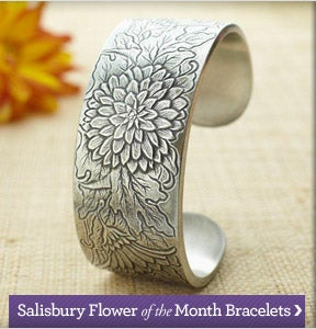 View our Salisbury Flower of the Month Bracelets Collection