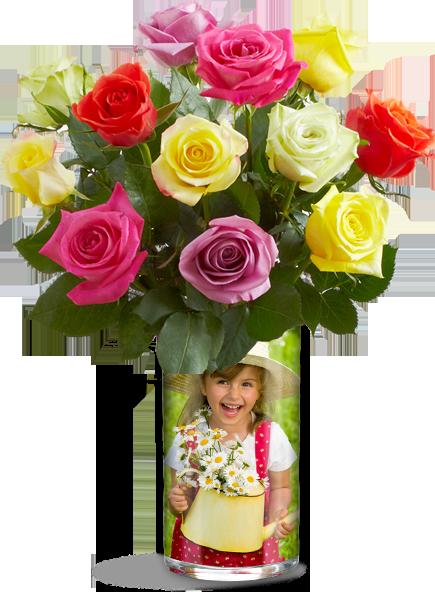 Custom Vase and Flowers